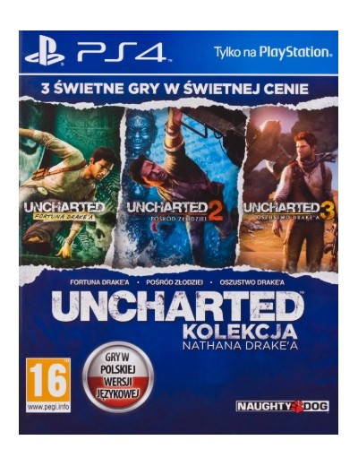 Uncharted Kolekcja Nathana Drake'a PS4 POL Używana